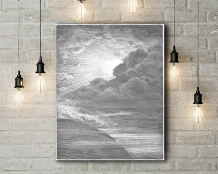 Gustave Dore: The Creation of Light. Fine Art Canvas.